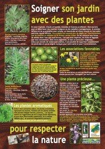 panneau soigner le jardin par les plantes 1